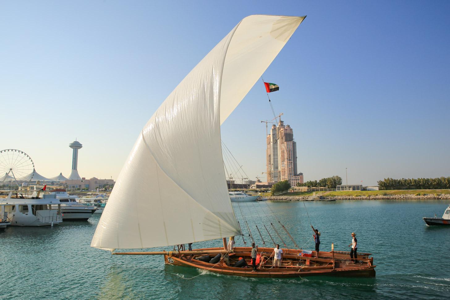Heerlijk zeilen in Abu Dhabi