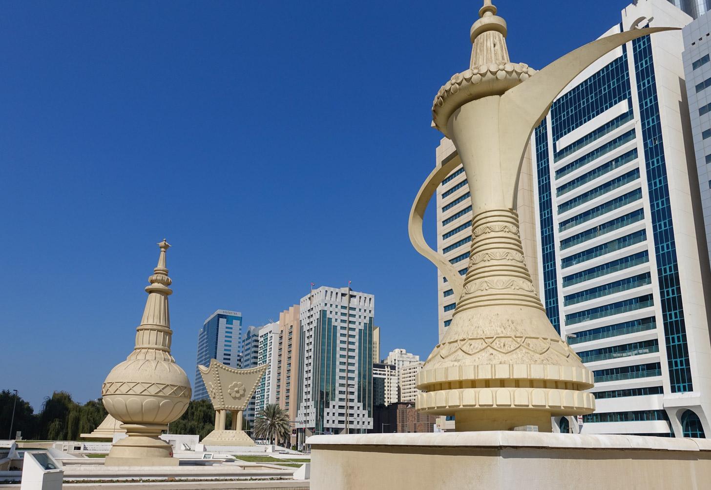 Het centrum van Abu Dhabi