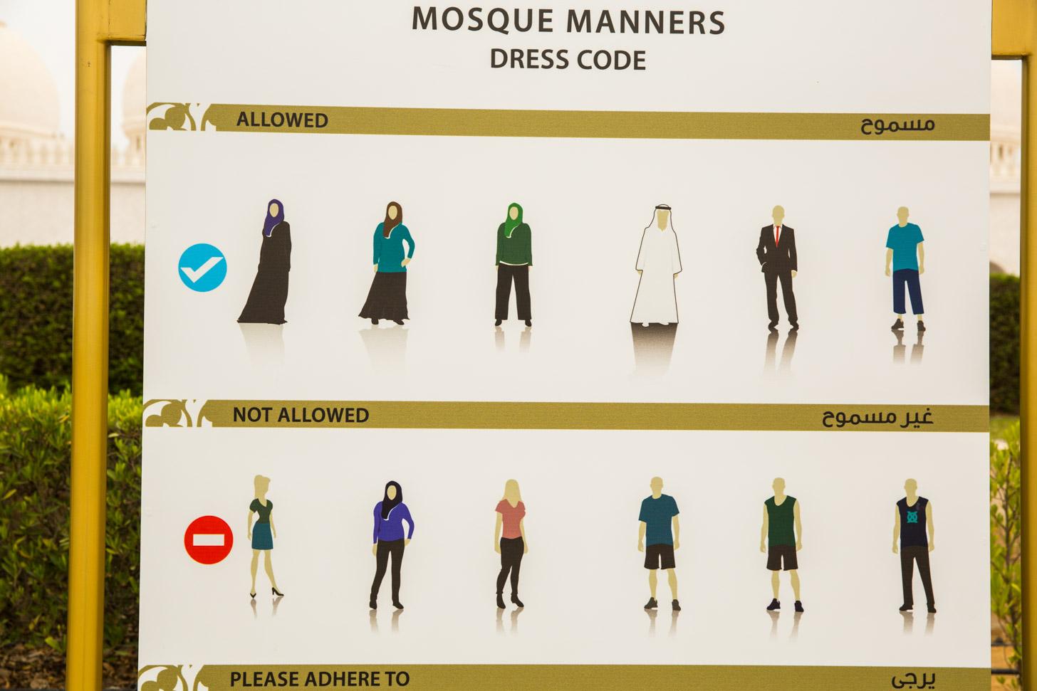 Kledingvoorschrift voor een bezoek aan de moskee