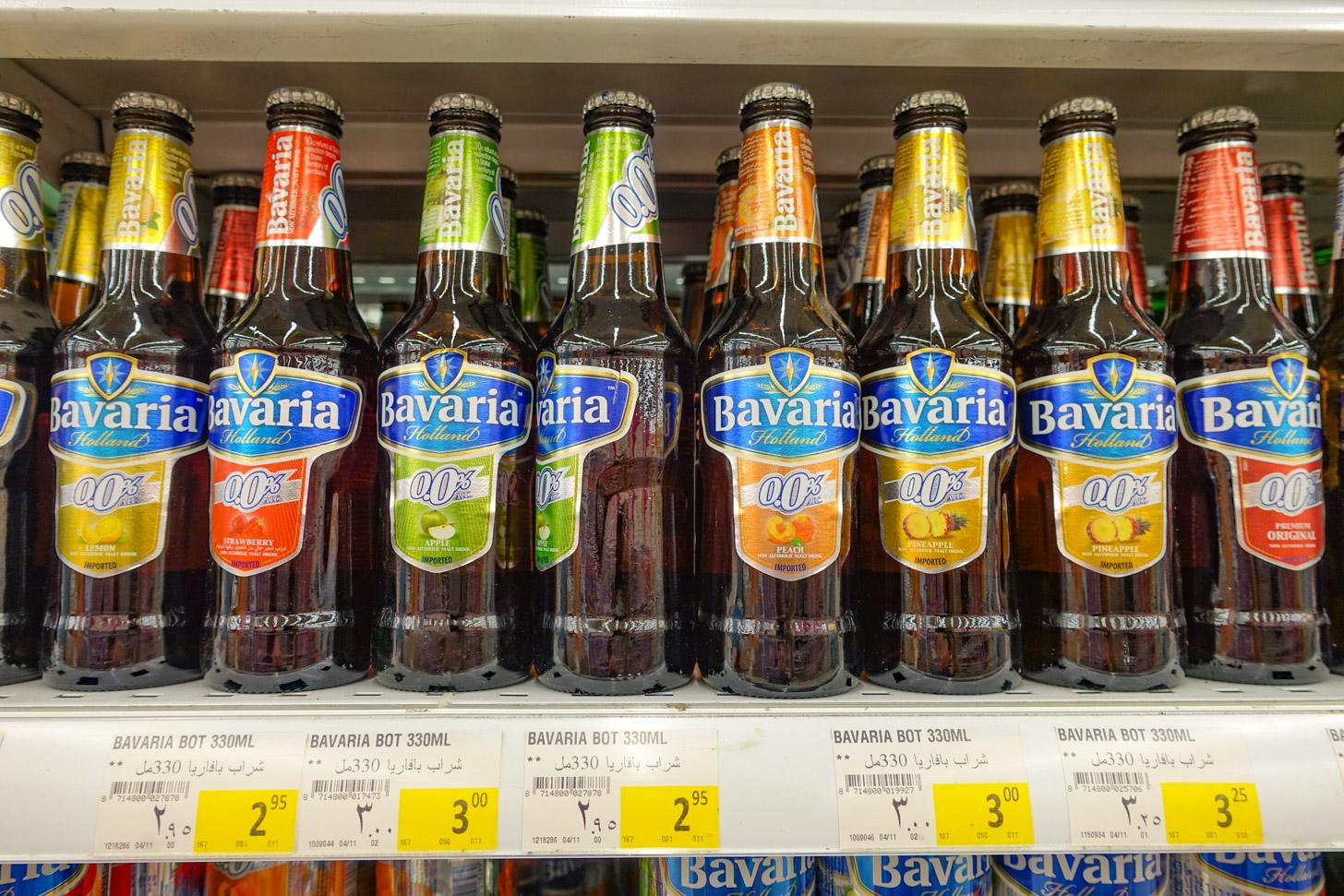 alcoholvrij bier in de supermarkt in Abu Dhabi